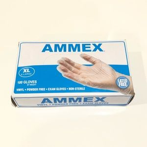 Ammex Latex Gloves 100 Count XL New